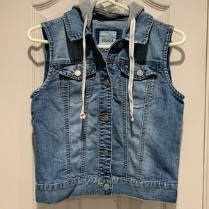 Mudd Jean vest with hoodie